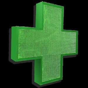 Аптечный крест 96 см х 96 см зеленый