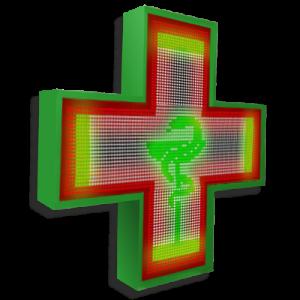 Аптечный крест 96 см х 96 см полноцветный